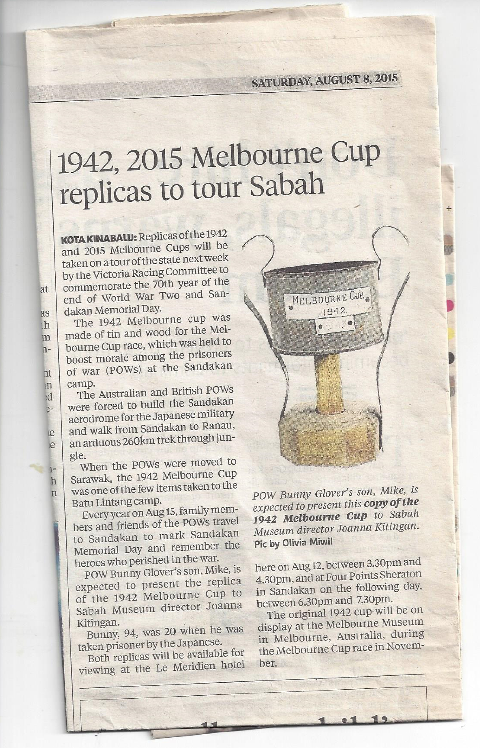 The 1942 Melbourne Cup (Sandakan) Story